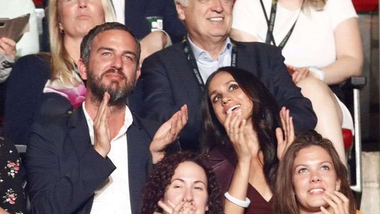 Meghan Markle watches the opening ceremony of the Invictus  Games