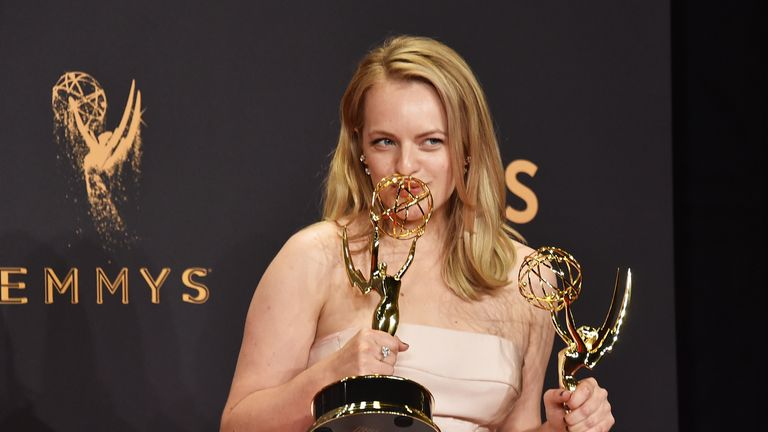 Elisabeth Moss scooped the main female award of the night