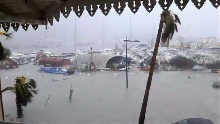 Damage in Saint Martin