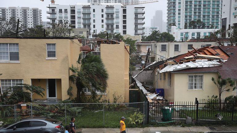 Storm damage in Miami