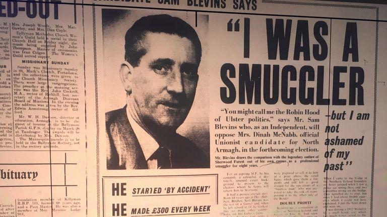 "Sam the smuggler: ""Ulster's Robin Hood"""