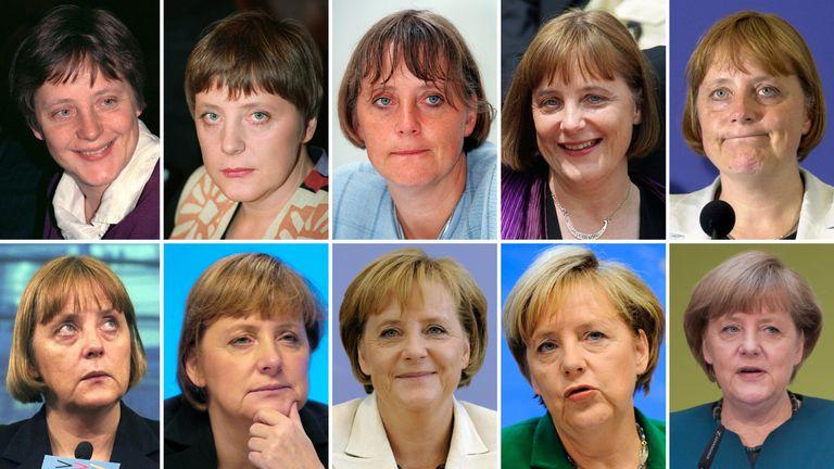Mrs Merkel from 1991 to 2013