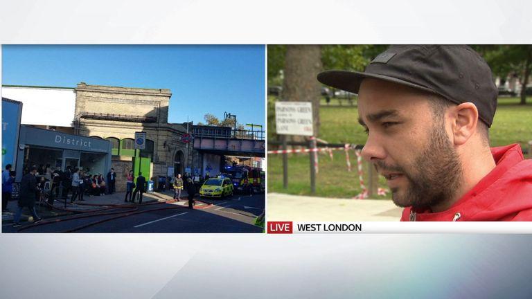 Witness Luke Walmsley speaks to Sky News