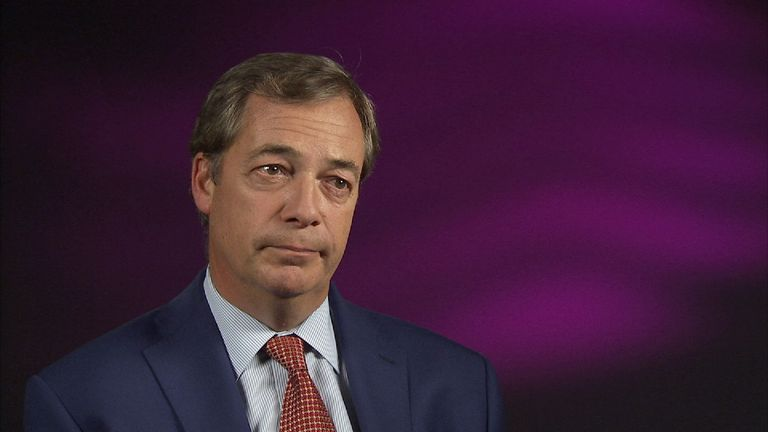 Nigel Farage is not happy about the way Brexit is shaping up