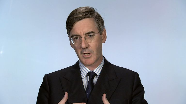 Jacob Rees Mogg speaking from Millbank studio.