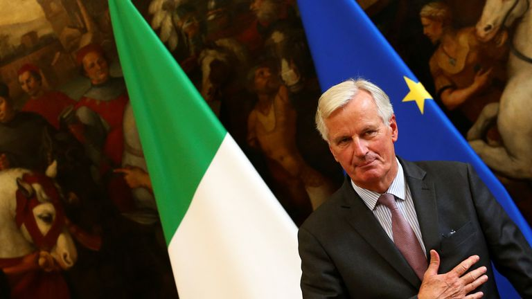 Michel Barnier in Rome