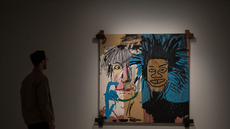 Dos Cabezas depicts the artist and Andy Warhol