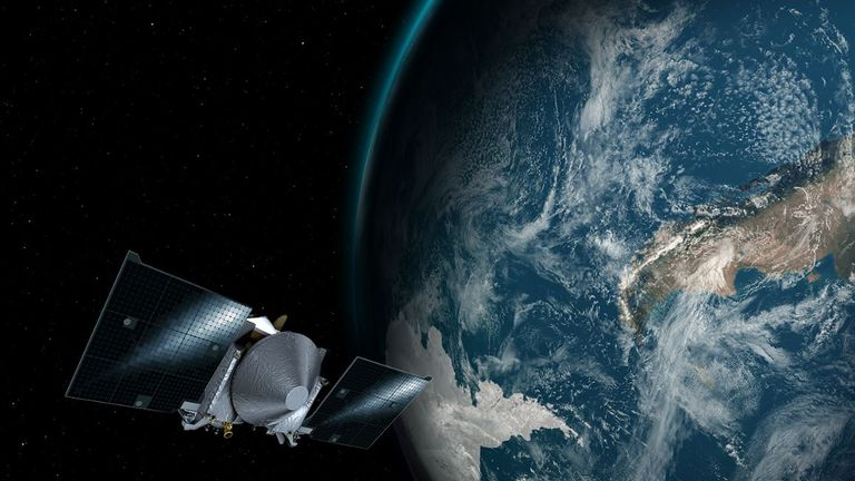 An artist's concept of OSIRIS-REx. Pic: NASA's Goddard Space Flight Centre/University of Arizona