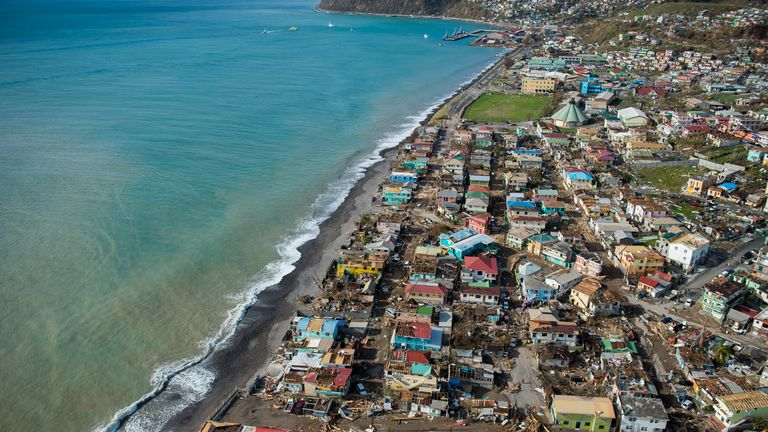 Roseau, capital of the Caribbean island Dominica