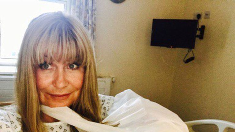Sian has thanked the NHS for looking after her. Pic: Twitter/@SianWeather