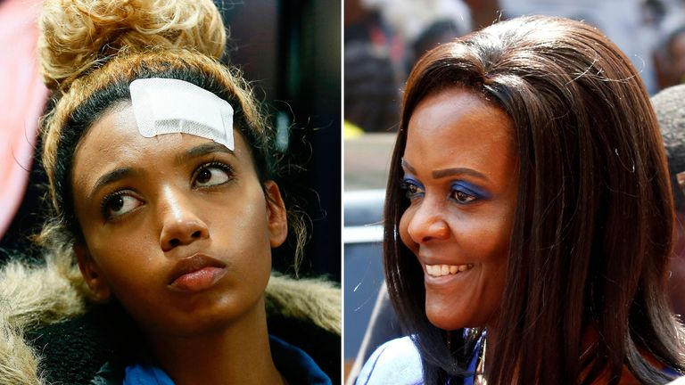 Grace Mugabe accuses Gabriella Engels of attacking her with a knife