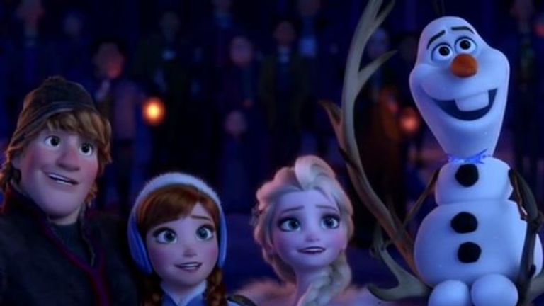 Sven, Anna, Elsa and Olaf all return in the new short film