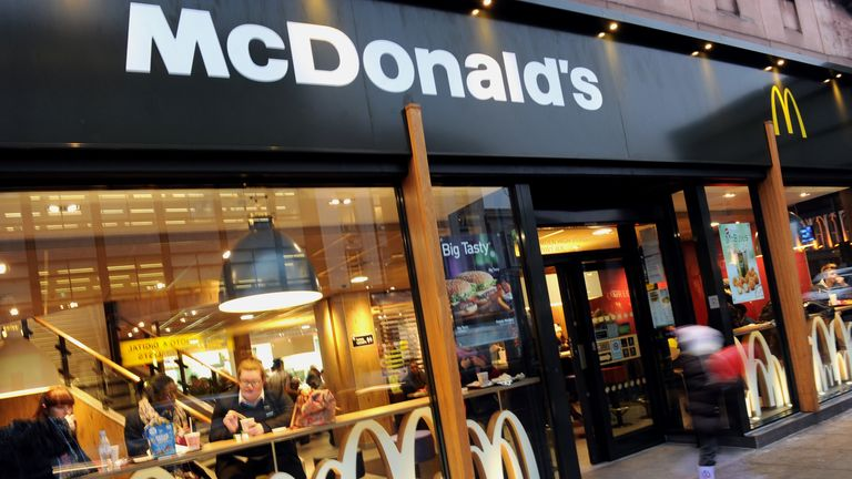 McDonald's employs approximately 85,000 staff in the UK