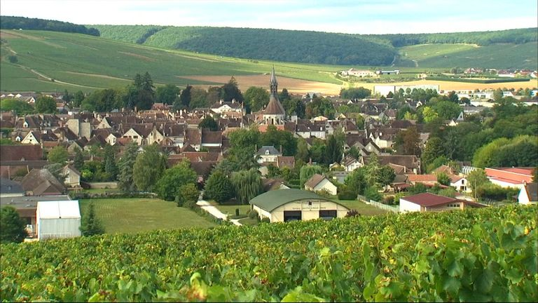 The Chablis wine district in the famous Burgundy region in France, where Spring frosts have impacted on the grape harvest
