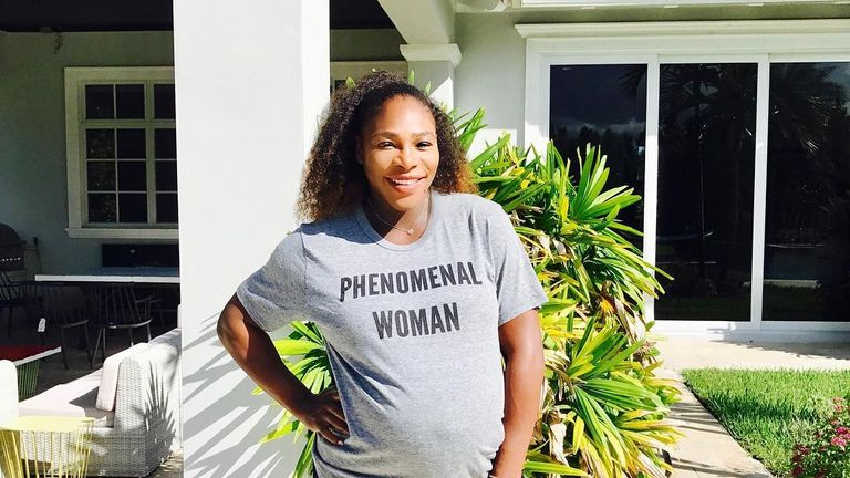 Serena Williams has posted images of her pregnancy to her Instagram page
