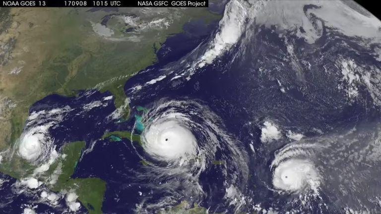 NASA animation shows paths taken by three Caribbean hurricanes