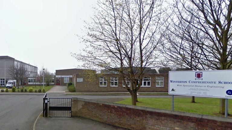 A 16-year-old pupil at Winterton Community Academy was arrested