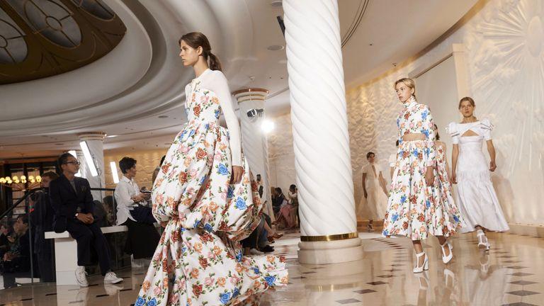 Models present creations from New Zealand-born designer Emilia Wickstead