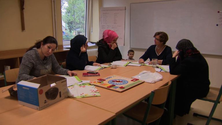 German classes in the area are helping Syrian refugees to integrate better