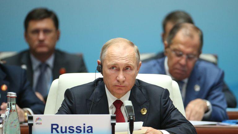 Vladimir Putin at BRICS summit in China