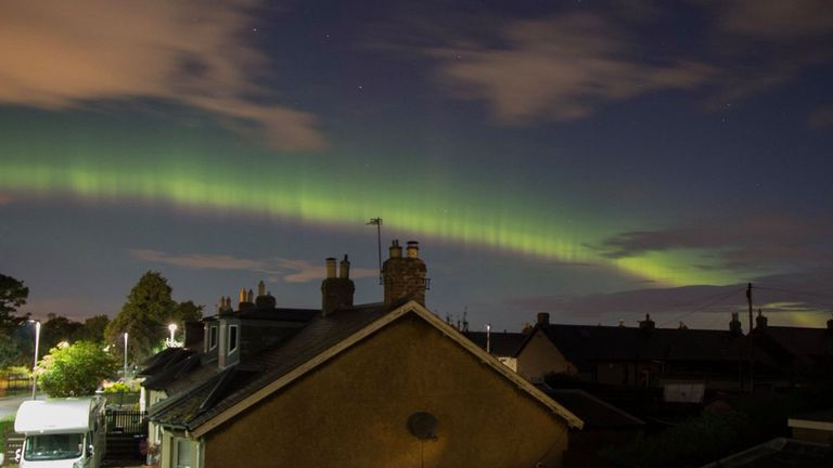 The Northern Lights as seen in Newtongrange in Midlothian. Pic: Fiona Horne