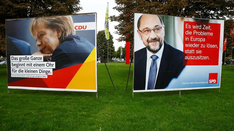 Social Democratic Party leader Martin Schulz has insisted he can unseat Chancellor Angela Merkel