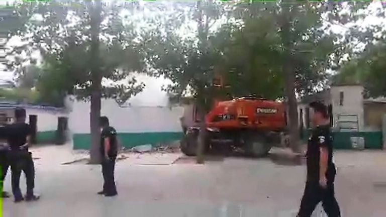 The moment the bulldozers moved in
