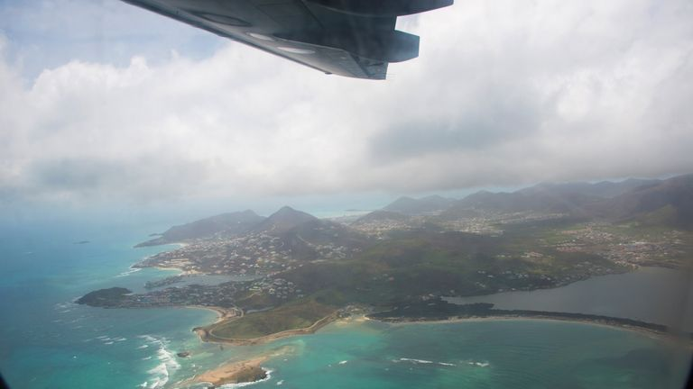 The French-Dutch Caribbean island of Saint Martin