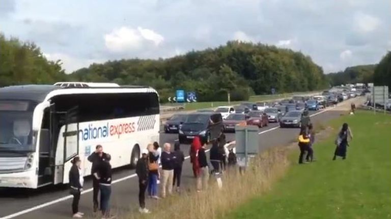 Thousands of people have been stranded on the motorway