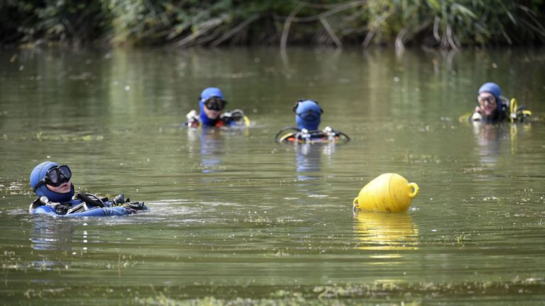 Divers have been searching for evidence in ponds near where Maelys was last seen