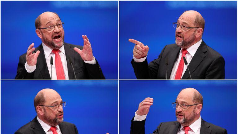 Martin Schulz of the Social Democratic party SPD
