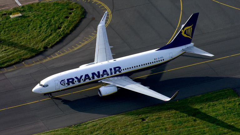 A Ryanair jet