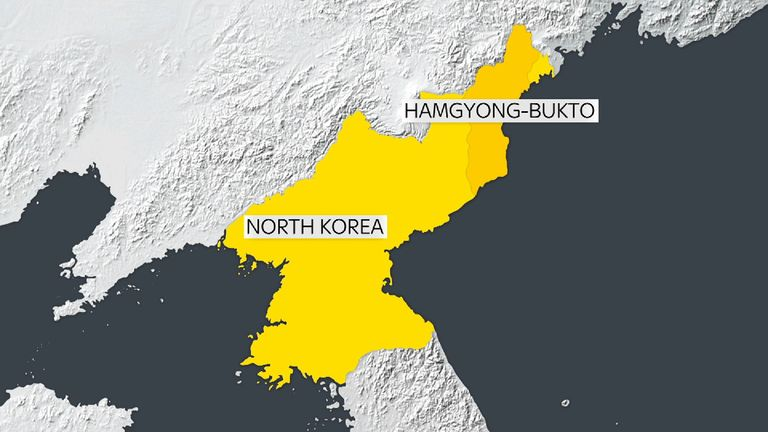 The tremor was detected near where North Korea recently conducted a nuclear test