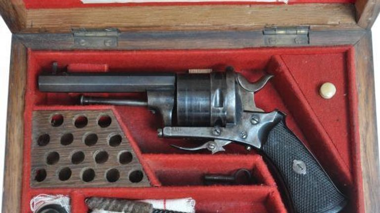 Antique weapons purchased from legitimate dealers were paired with Dark Web ammunition