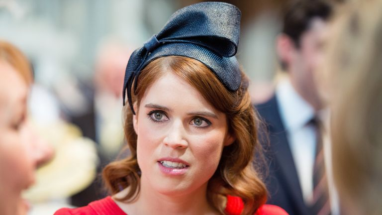 Princess Eugenie attends a lunch after the National Service of Thanksgiving
