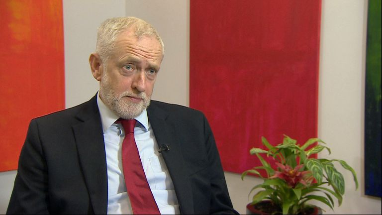 Labour leader Jeremy Corbyn says a transitional period was inevitable