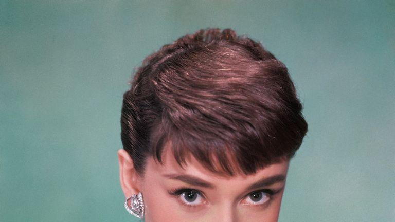 Portrait of Belgian-born American actress Audrey Hepburn