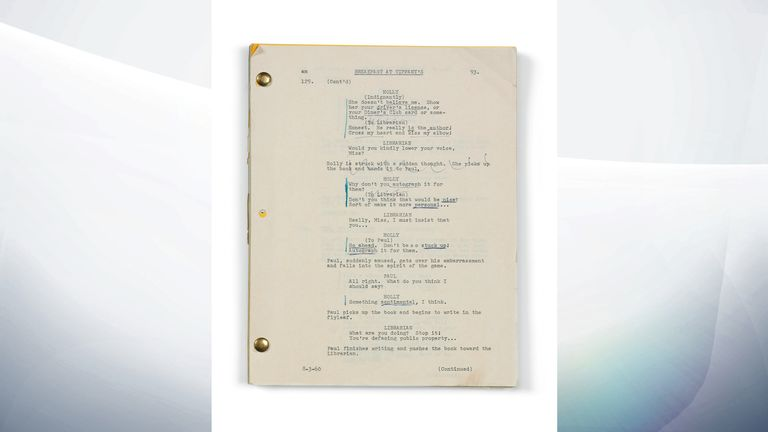 Breakfast At Tiffany's script, 1961 - Estimate: £60,000-90,000