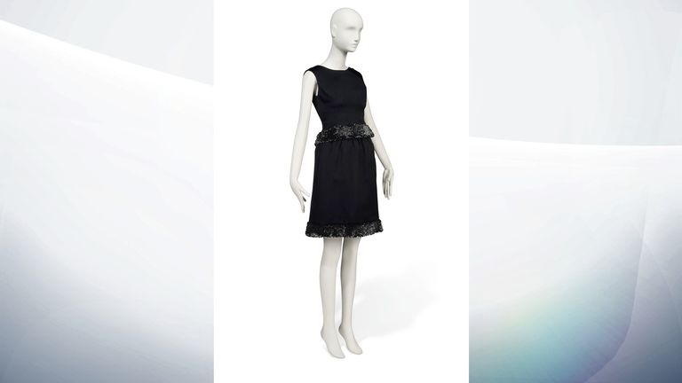 1968 Givenchy Couture black satin cocktail gown - Estimate: £15,000-25,000
