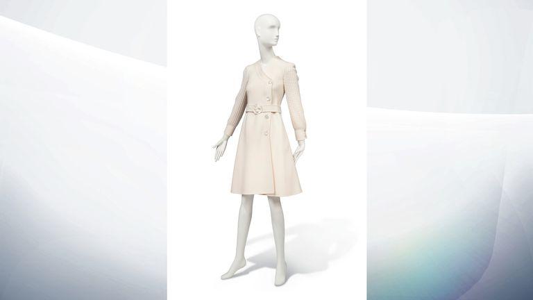 1972 Valentino Couture ivory coat dress - Estimate: £2,000-3,000