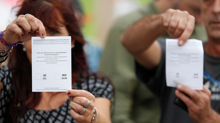 The ballot papers are banned and the vote has been ruled illegal