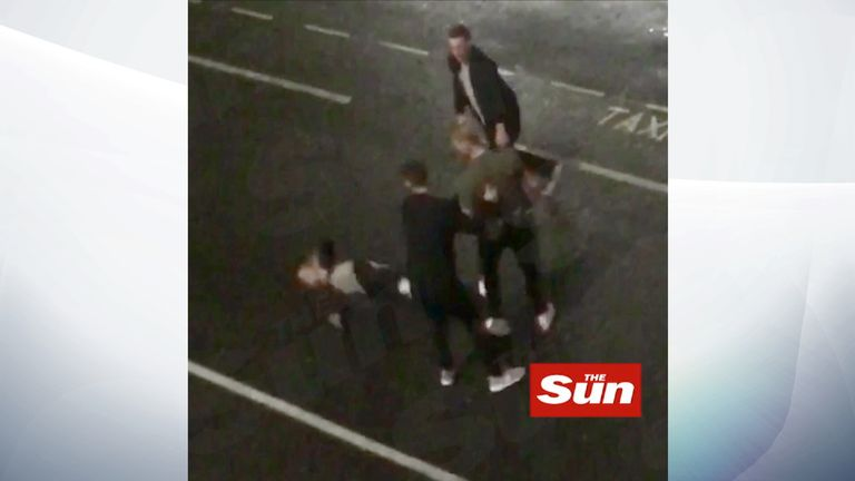 The alleged fight took place outside a nightclub in Bristol. Pic: The Sun.