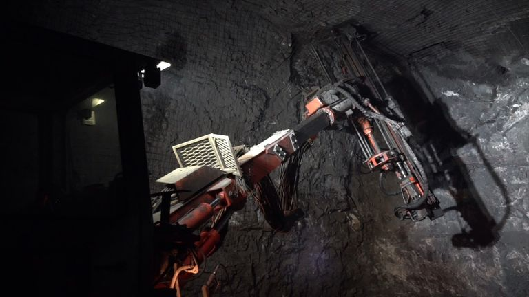 Inside the mine