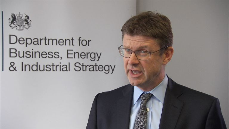 Business secretary Greg Clark MP