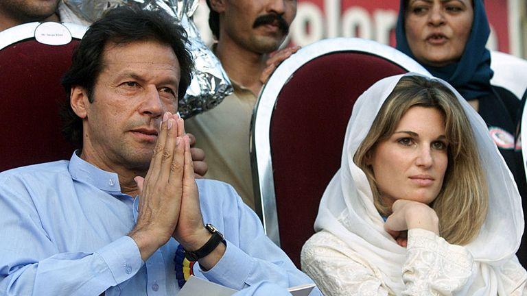 Jemima with Imran Khan who was Mahhmood's sporting hero