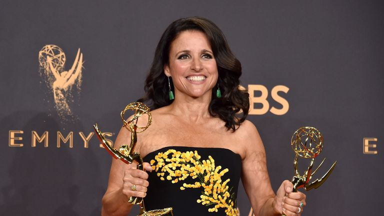 Julia Louis-Dreyfus won the Emmy for outstanding comedy actress for her role in Veep