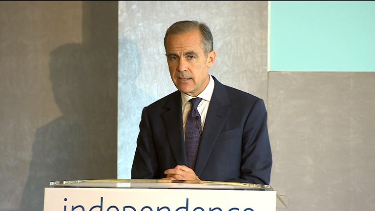 Mark Carney argues the Bank of England's influence is limited