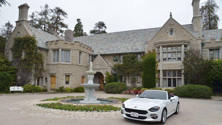 Hefner's Playboy Mansion in Los Angeles, California