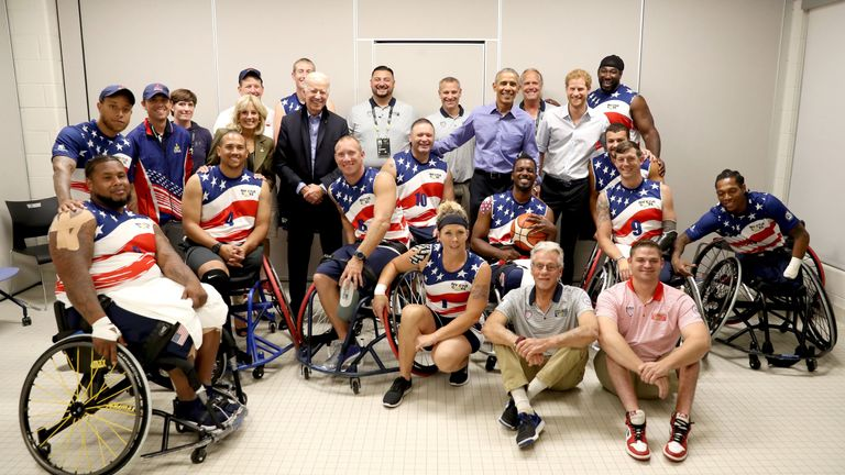 Prince Harry was joined by Barack Obama at the Invictus Games in Toronto