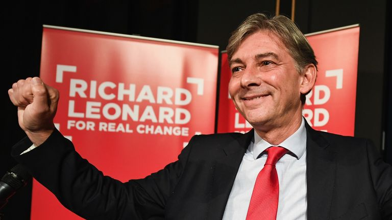 GLASGOW, SCOTLAND - SEPTEMBER 16: Richard Leonard MSP launches his campaign for the Scottish Labour Party leadership at City of Glasgow College on September 16, 2017 in Glasgow,Scotland. The currentÊScottish Labour Party leadership electionÊwas triggered on 29 August 2017 following the resignation of Kezia Dugdale asÊleaderÊof theÊparty, having led theÊLabour in ScotlandÊfor the past two years. (Photo by Jeff J Mitchell/Getty Images)
